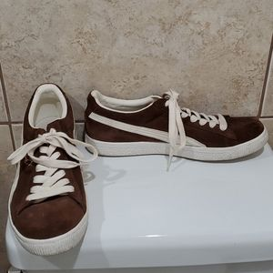 Puma Clyde brown suede sneakers 11
